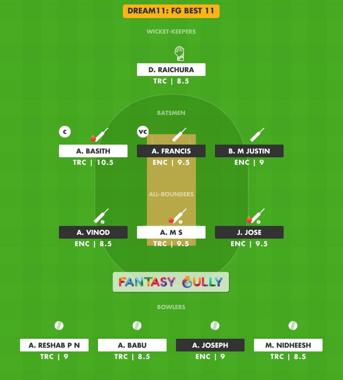 FG Best 11, ENC vs TRC Dream11 Fantasy Team Suggestion