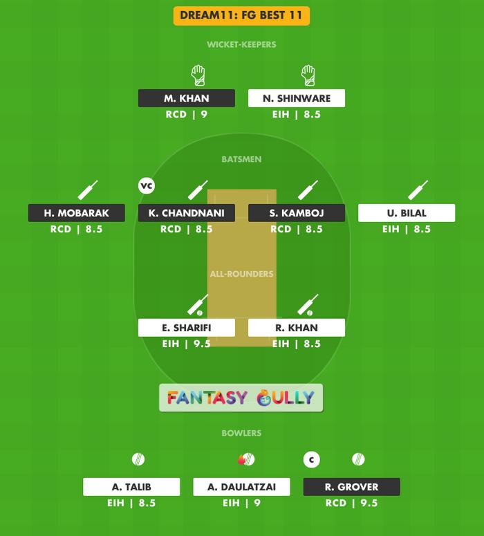 FG Best 11, RCD vs EIH Dream11 Fantasy Team Suggestion