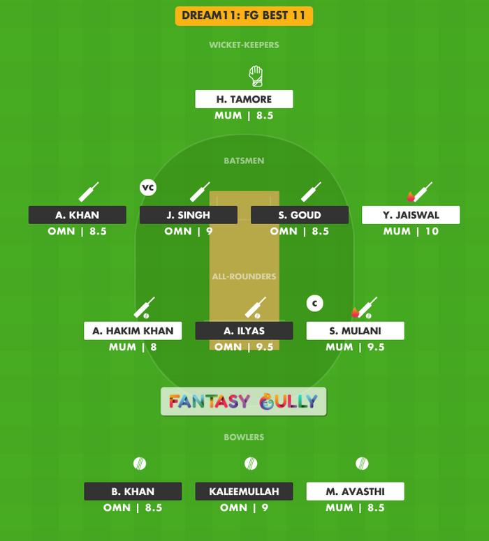 FG Best 11, OMN vs MUM Dream11 Fantasy Team Suggestion