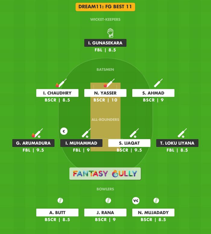 FG Best 11, FBL vs BSCR Dream11 Fantasy Team Suggestion