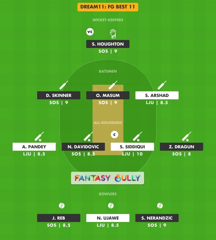 FG Best 11, SOS vs LJU Dream11 Fantasy Team Suggestion