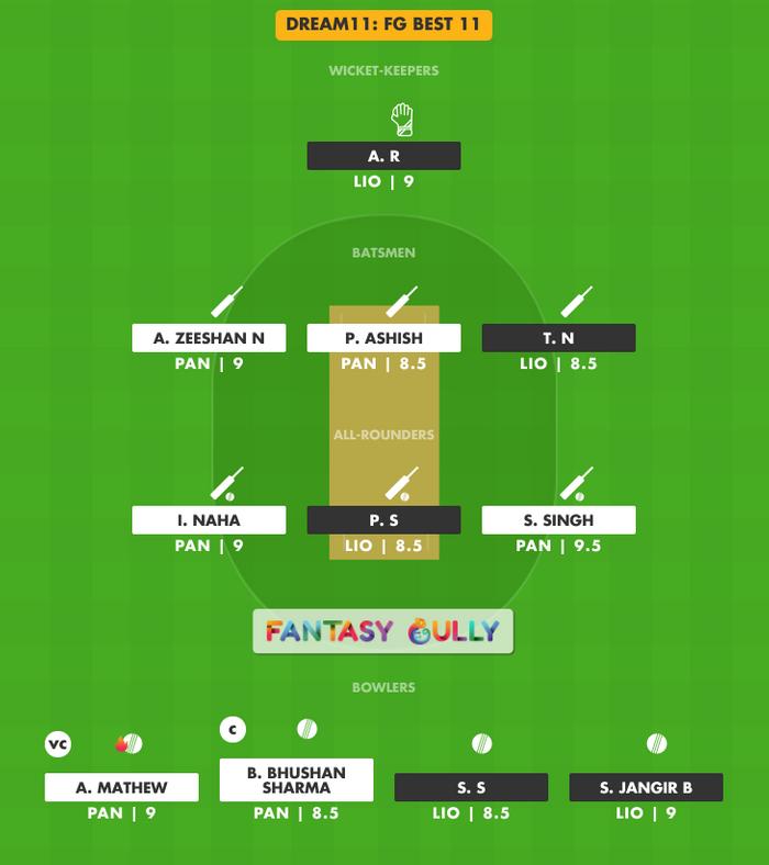 FG Best 11, PAN vs LIO Dream11 Fantasy Team Suggestion