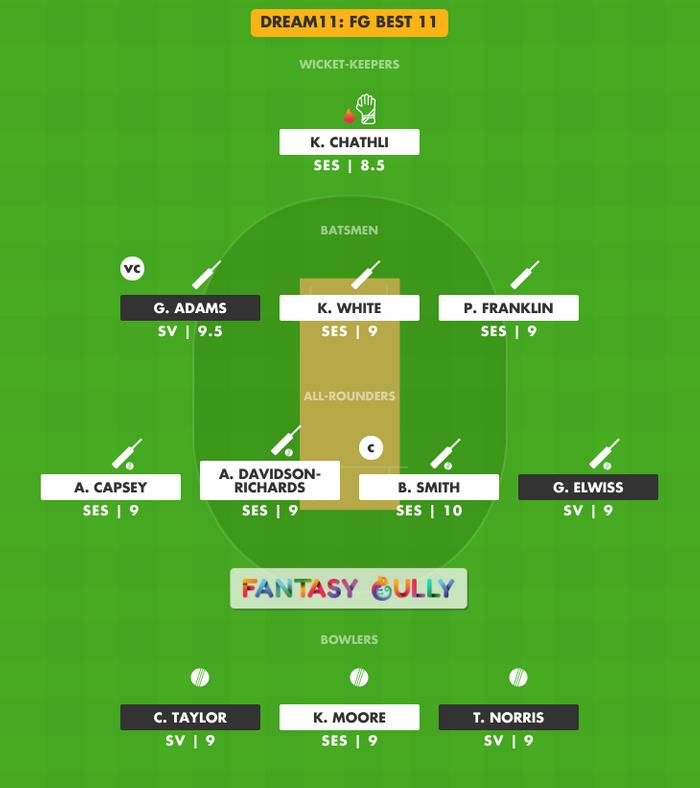 FG Best 11, SV vs SES Dream11 Fantasy Team Suggestion