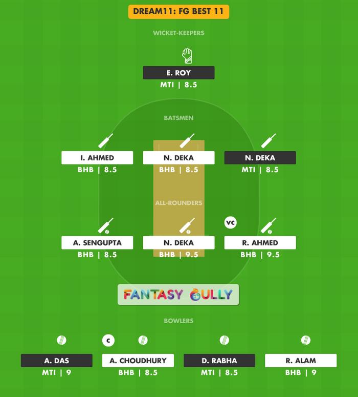 FG Best 11, BHB vs MTI Dream11 Fantasy Team Suggestion