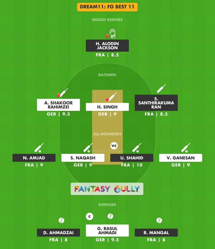 FG Best 11, GER vs FRA Dream11 Fantasy Team Suggestion