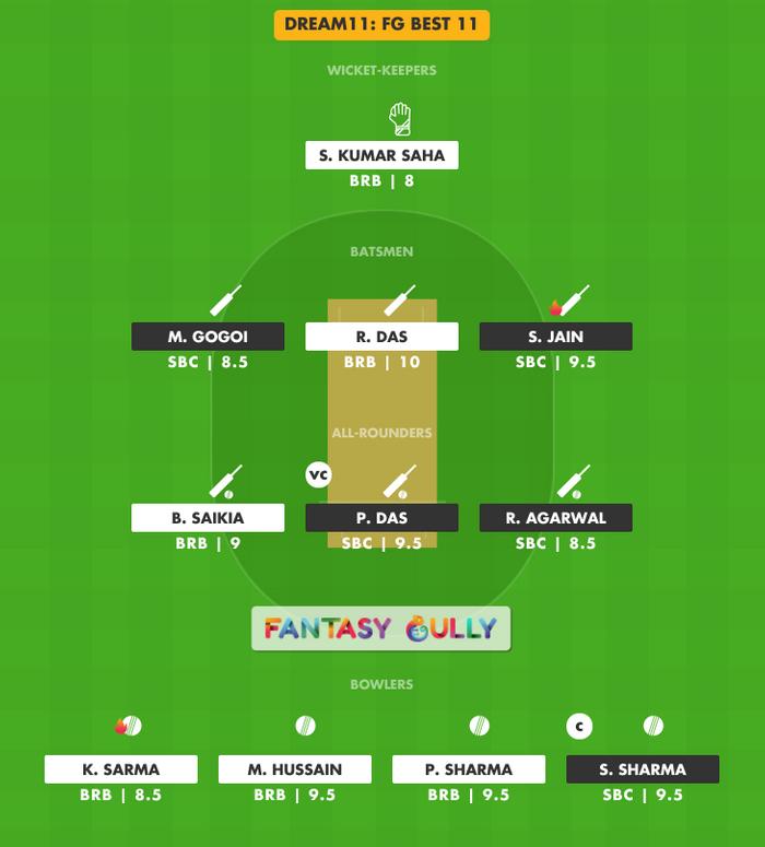 FG Best 11, SBC vs BRB Dream11 Fantasy Team Suggestion