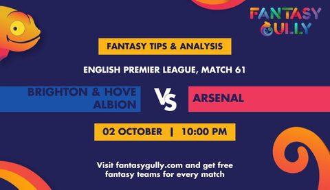 Brighton & Hove Albion vs Arsenal
