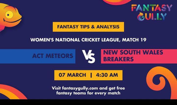 AM-W vs NSW-W, Match 19