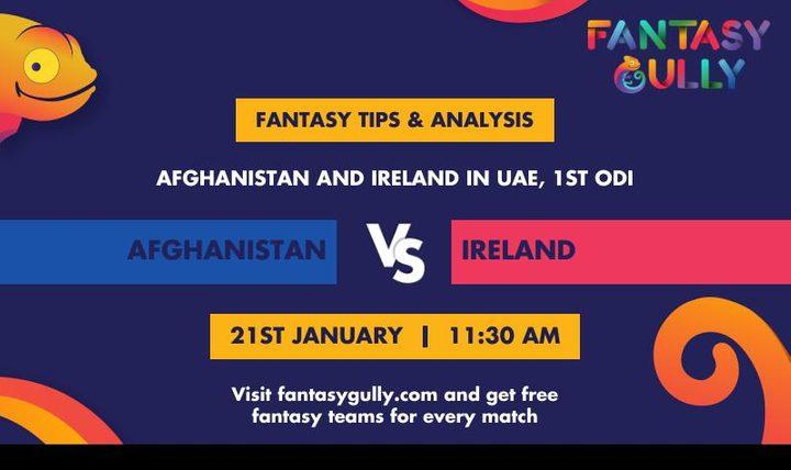 AFG vs IRE, 1st ODI