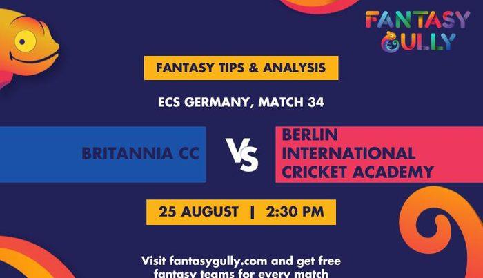 Britannia CC vs Berlin International Cricket Academy, Match 34