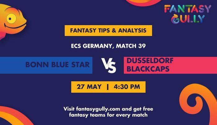 Bonn Blue Star vs Dusseldorf Blackcaps, Match 39