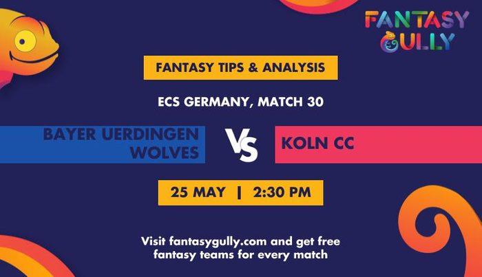 Bayer Uerdingen Wolves vs Koln CC, Match 30