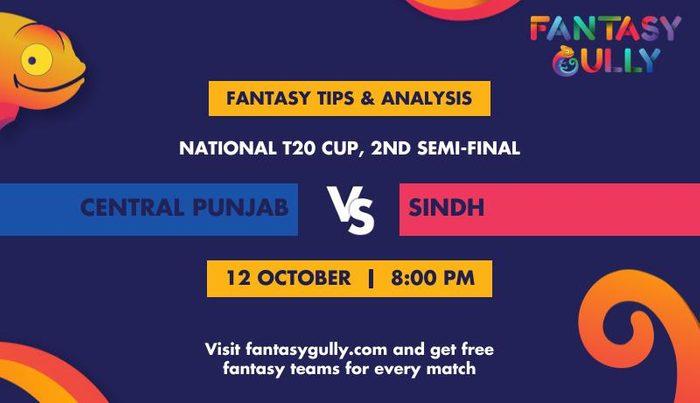 Central Punjab vs Sindh, 2nd Semi-Final