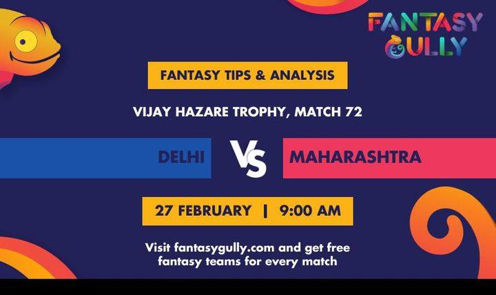 DEL vs MAH, Match 72