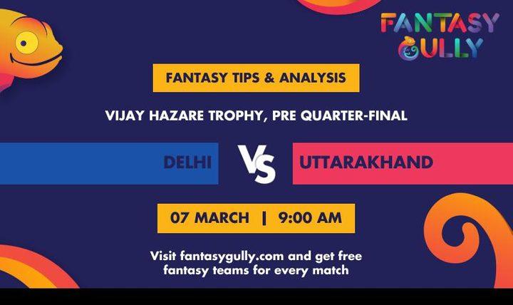 DEL vs UT, Pre Quarter-final