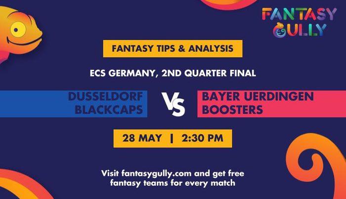 Dusseldorf Blackcaps vs Bayer Uerdingen Boosters, 2nd Quarter Final