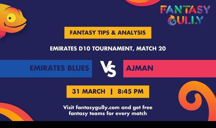 EMB vs AJM, Match 20