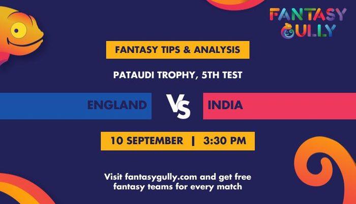 England vs India, 5th Test