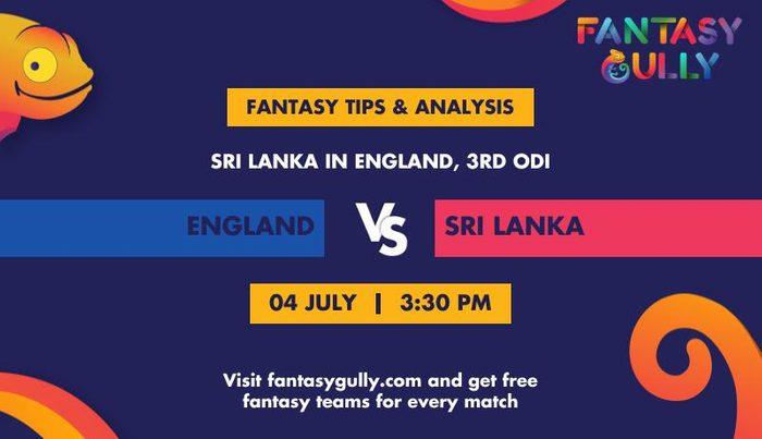 England vs Sri Lanka, 3rd ODI