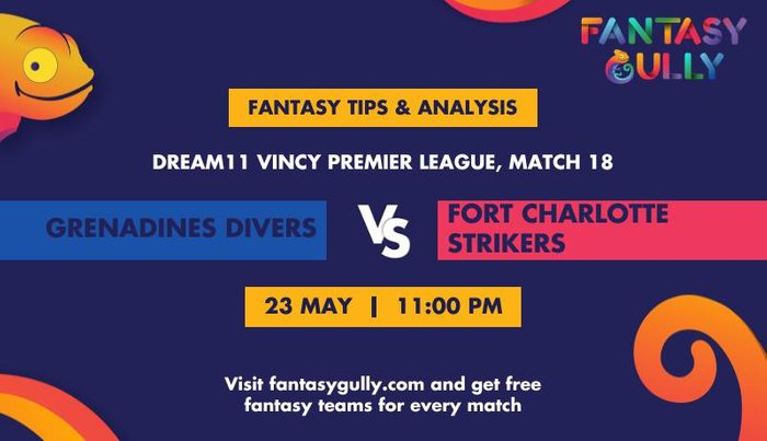 Grenadines Divers vs Fort Charlotte Strikers, Match 18