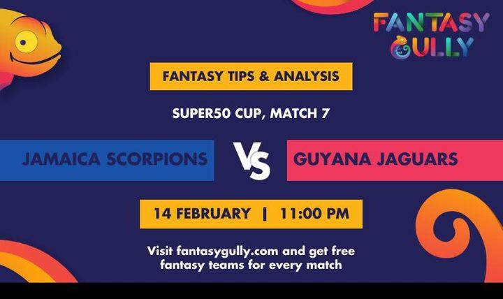 JAM vs GUY, Match 7