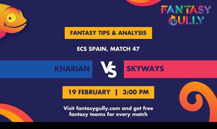 KHA vs SKY, Match 47