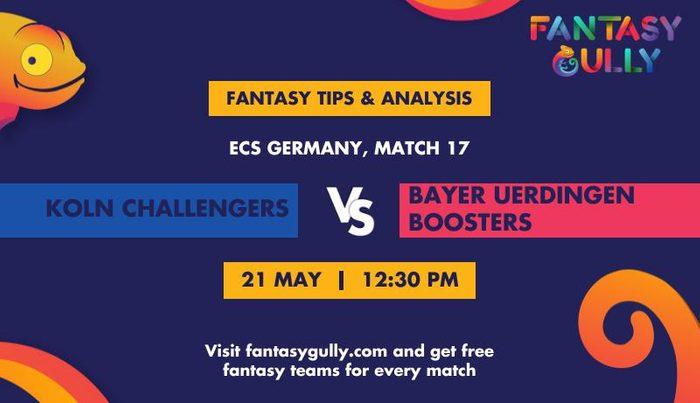 Koln Challengers vs Bayer Uerdingen Boosters, Match 17