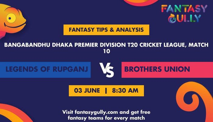 Legends of Rupganj vs Brothers Union, Match 10