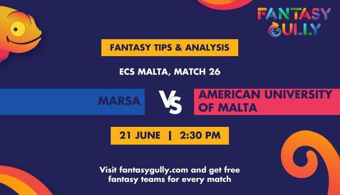 Marsa vs American University of Malta, Match 26