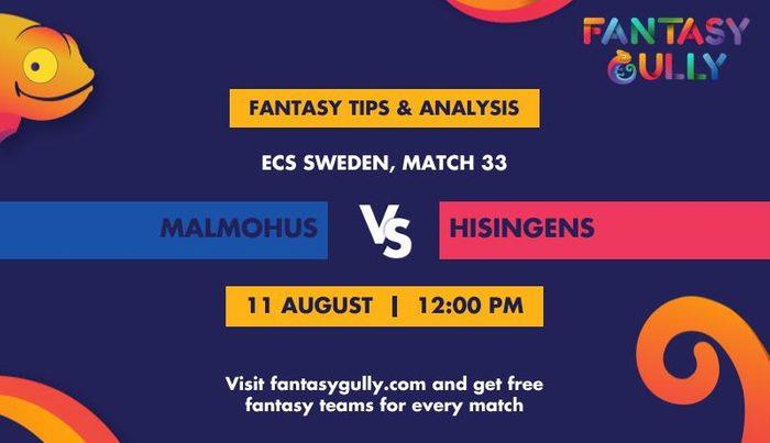 Malmohus vs Hisingens, Match 33