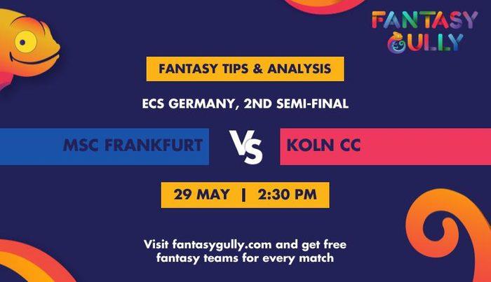 MSC Frankfurt vs Koln CC, 2nd Semi-Final