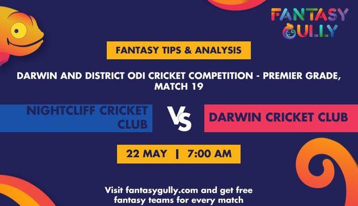 Nightcliff Cricket Club vs Darwin Cricket Club, Match 19