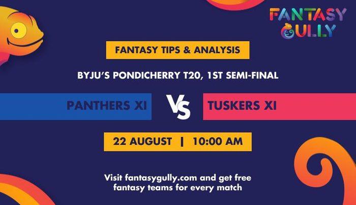 Panthers XI vs Tuskers XI, 1st Semi-Final