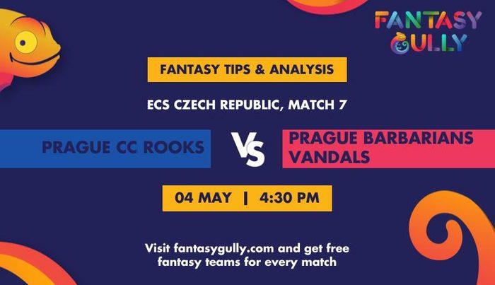 Prague CC Rooks vs Prague Barbarians Vandals, Match 7