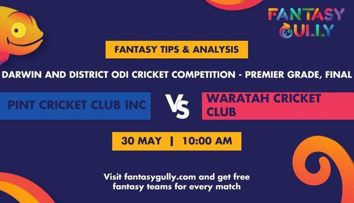 Pint Cricket Club INC vs Waratah Cricket Club, Final
