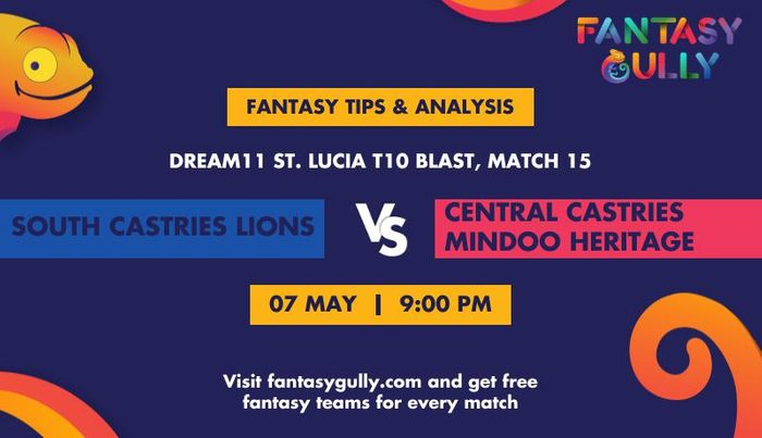 South Castries Lions vs Central Castries Mindoo Heritage, Match 15