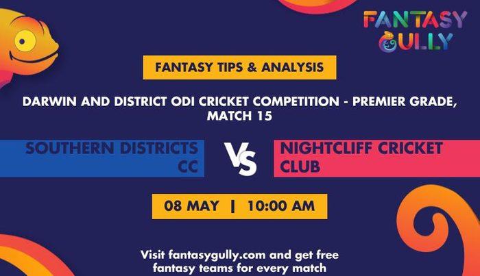 Southern Districts CC vs Nightcliff Cricket Club, Match 15