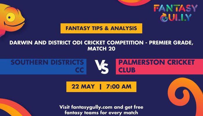 Southern Districts CC vs Palmerston Cricket Club, Match 20
