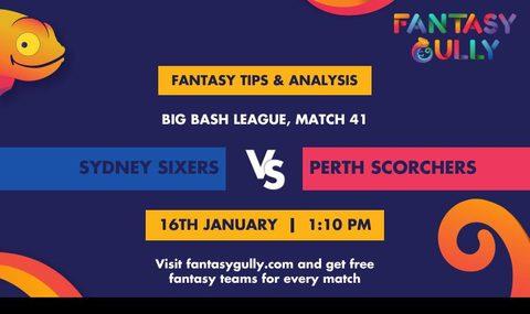 Sydney Sixers vs Perth Scorchers