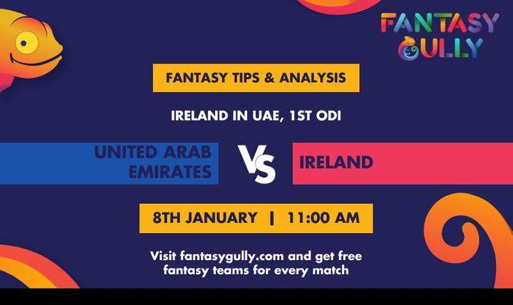 UAE vs IRE, 1st ODI