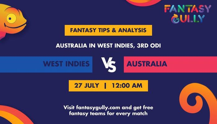West Indies vs Australia, 3rd ODI