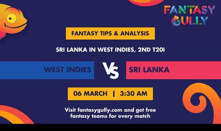 WI vs SL, 2nd T20I