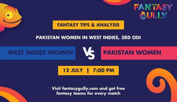 West Indies Women vs Pakistan Women, 3rd ODI