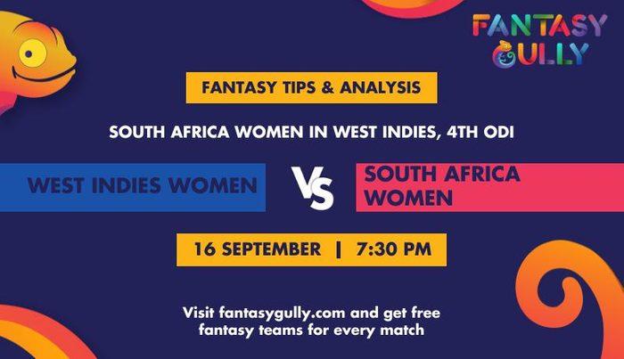 West Indies Women vs South Africa Women, 4th ODI