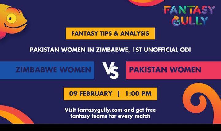 ZM-W vs PK-W, 1st unofficial ODI