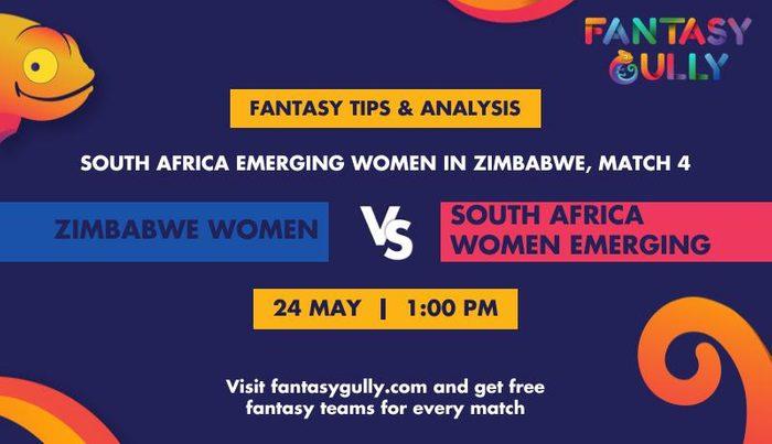 Zimbabwe Women vs South Africa Women Emerging, Match 4