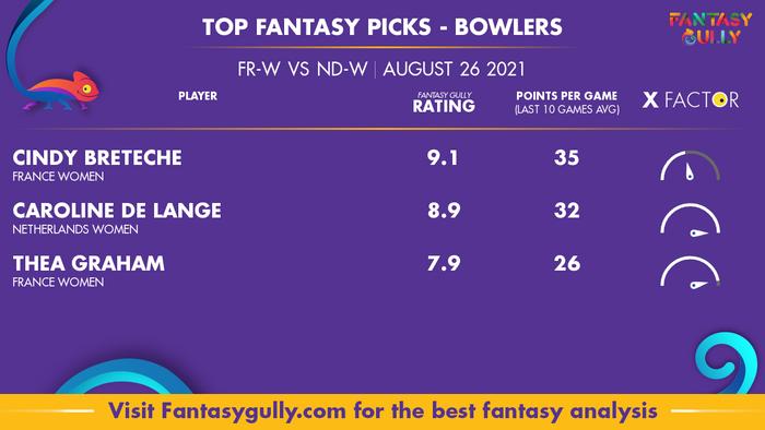 Top Fantasy Predictions for FR-W vs ND-W: गेंदबाज