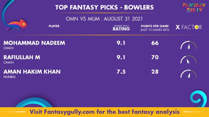 Top Fantasy Predictions for OMN vs MUM: गेंदबाज