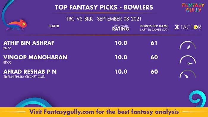 Top Fantasy Predictions for TRC vs BKK: गेंदबाज