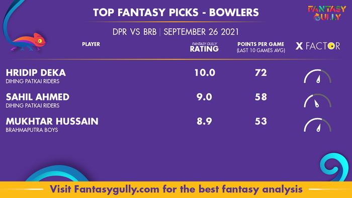 Top Fantasy Predictions for DPR vs BRB: गेंदबाज